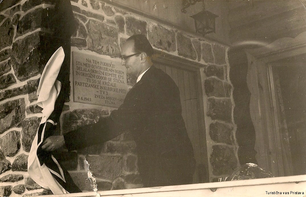 Odprtje Partizanskega doma, častni g. Osolnik