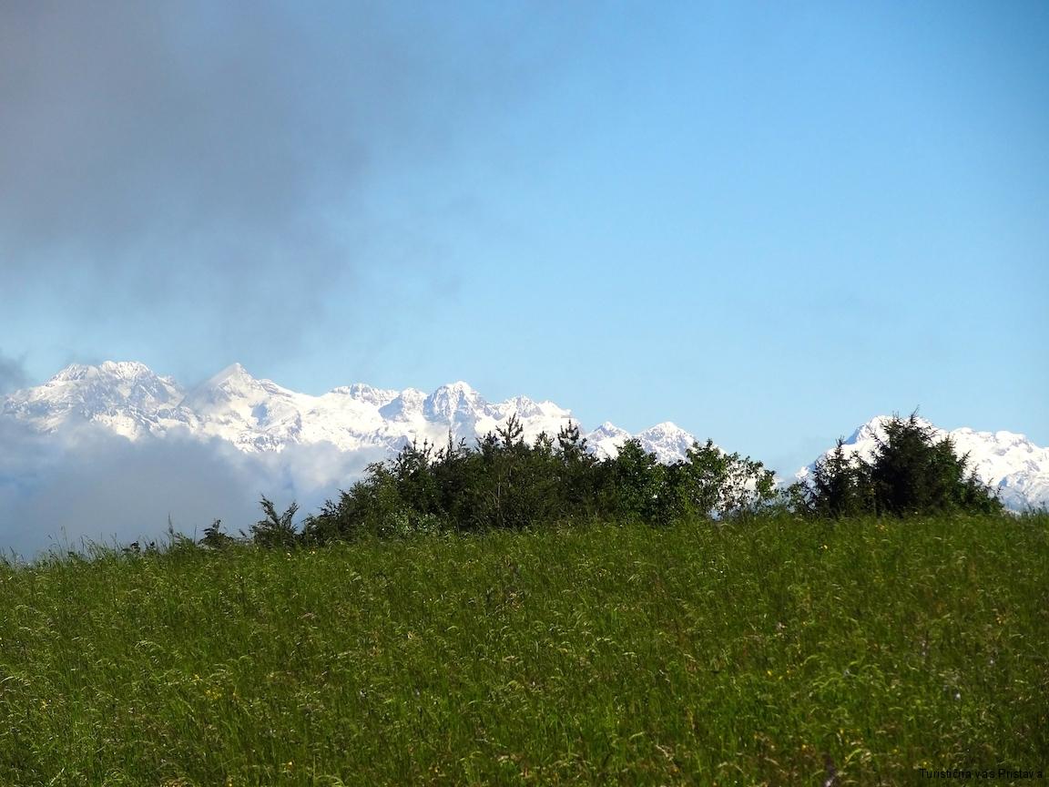 Pogled na del Kamniško savinjskih alp