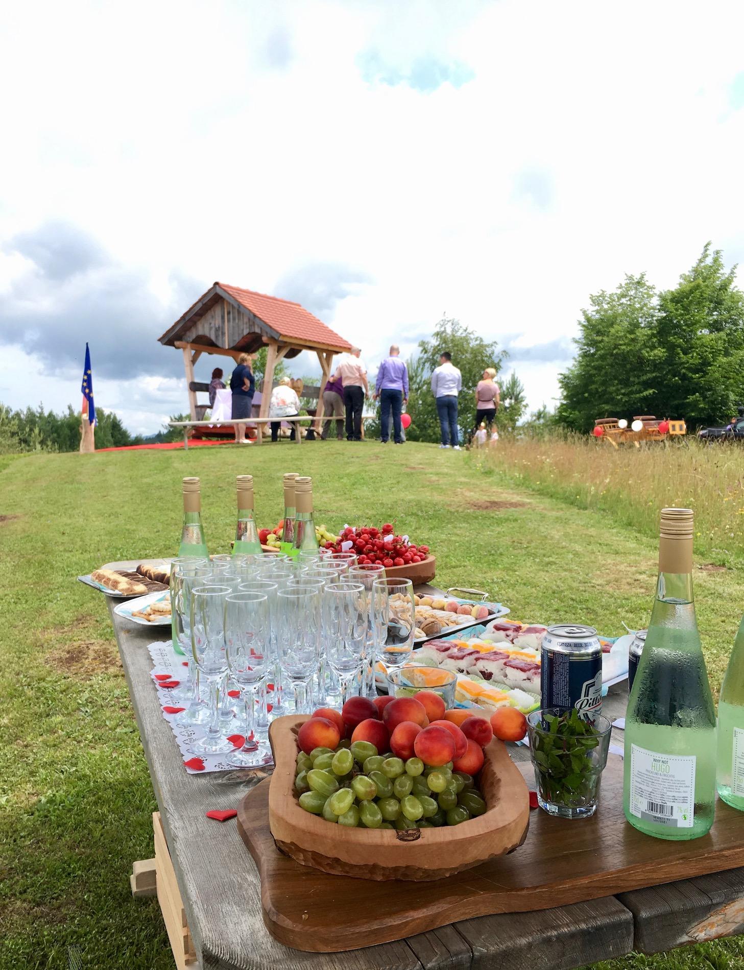 Civilni poročni obred s pogostitvijo