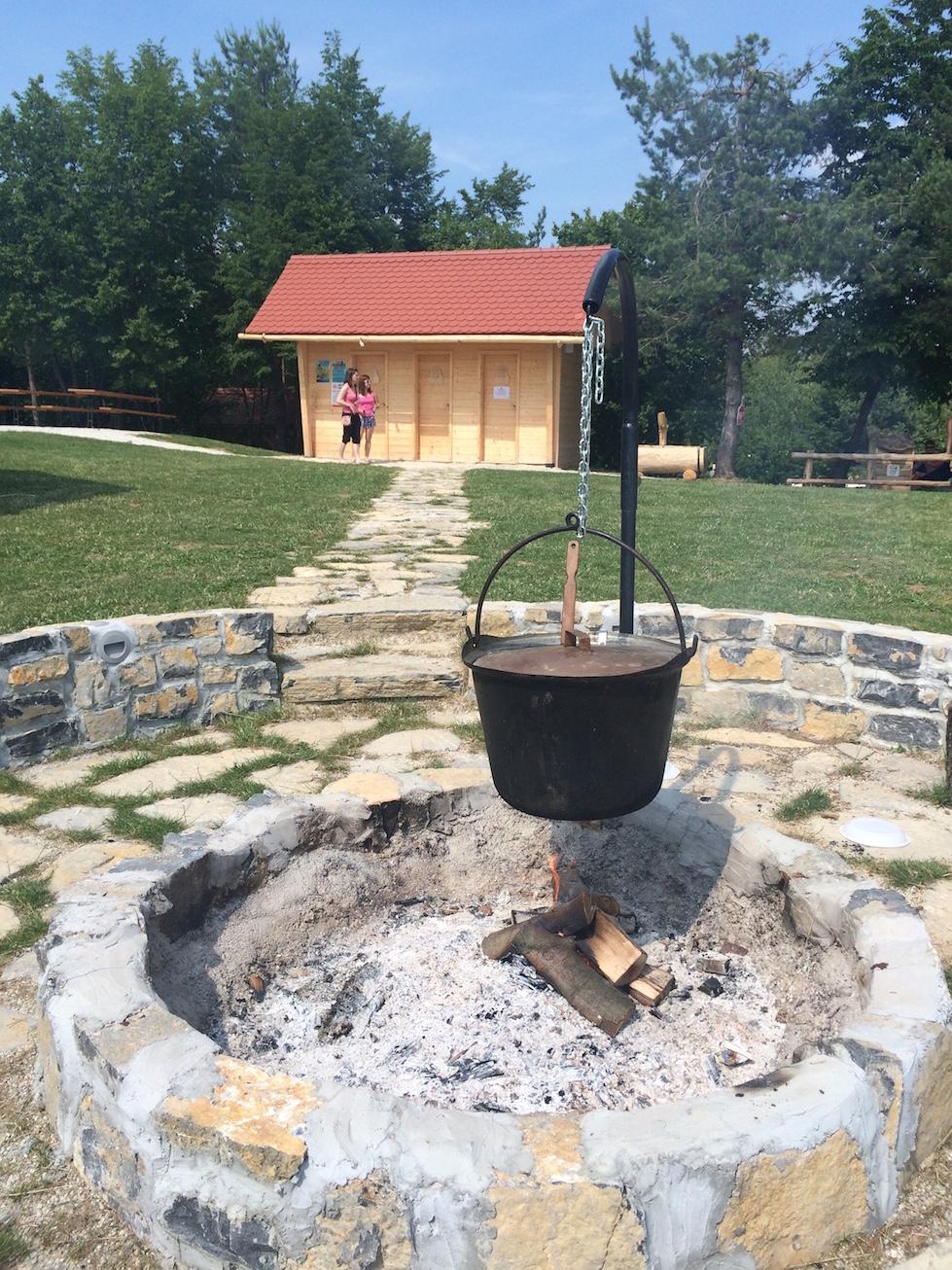 Stew on campfire