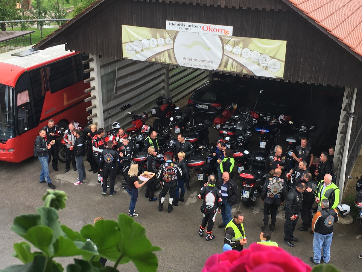 19. Moto zbor Fire group obisk na Pristavi