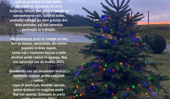 Božično novoletno voščilo-Turistična Vas Pristava